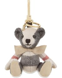 Burberry - Thomas Bear Check Cashmere Keyring - Lyst