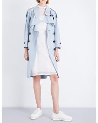 Burberry - Ladies Woven Baythrope Woven-silk Trench Coat - Lyst