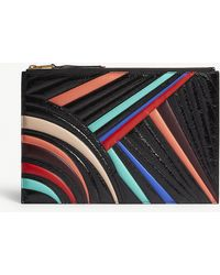 Givenchy - Patent Leather Chevron Pouch - Lyst