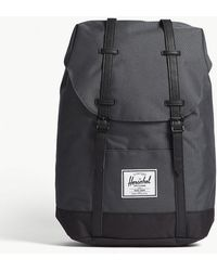 Herschel Supply Co. - . Dark Shadow Grey And Black Woven Retreat Backpack - Lyst
