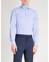 873251ee Ralph Lauren Purple Label - Regular-fit Cotton Shirt - Lyst