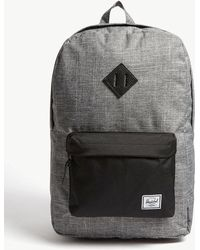 f439ec04f9 Herschel Supply Co. - . Raven Crosshatch Dark Grey And Black Woven Heritage  Canvas Backpack