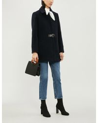 Claudie Pierlot - Gingembre Belted Wool-blend Coat - Lyst