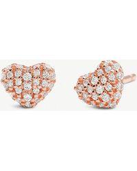Michael Kors - Rose Gold-toned Cubic Zirconia Stud Earrings - Lyst