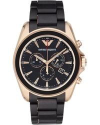 Emporio Armani - Ar6066 Gold-plated Stainless Steel Watch - Lyst