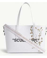 Off-White c/o Virgil Abloh - Sculpture Cotton Leather Tote - Lyst