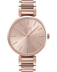 BOSS - 1502418 Allusion Rose Gold-toned Stainless Steel Watch - Lyst
