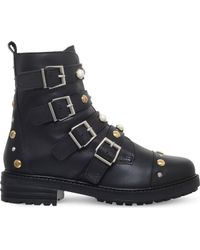 Carvela Kurt Geiger - Swish Stud-embellished Leather Ankle Boots - Lyst