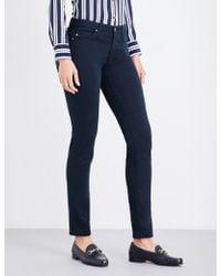 AG Jeans - Ladies Black Comfortable Prima Cigarette Mid-rise Jeans - Lyst