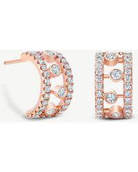 De Beers - Dewdrop 18ct Rose Gold Diamond Earrings - Lyst