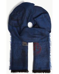 Etro - Stamp Fil Coupé Wool Scarf - Lyst