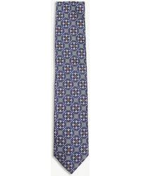 Eton of Sweden - Tile Pattern Silk Tie - Lyst