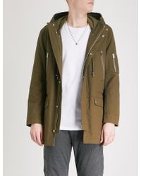 The Kooples - Zipped-pocket Cotton-drill Parka - Lyst