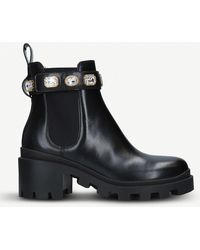 Gucci - Trip Leather Chelsea Boots - Lyst