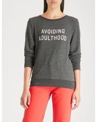 Wildfox - Avoiding Adulthood Printed Jersey Sweatshirt - Lyst