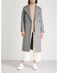 Harris Wharf London - Longline Wool Military Coat - Lyst