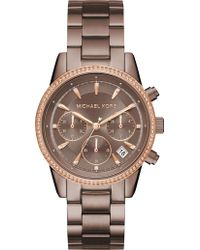 Michael Kors - Mk6529 Ritz Rose Gold-toned Stainless Steel Watch - Lyst
