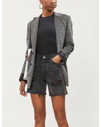 The Kooples - Embellished High-rise Denim Shorts - Lyst