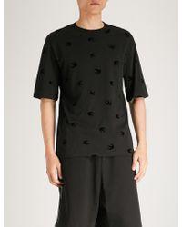 McQ - Swallow-print Cotton-jersey T-shirt - Lyst