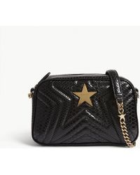 Stella McCartney - Quilted Python-embossed Star Camera Bag - Lyst
