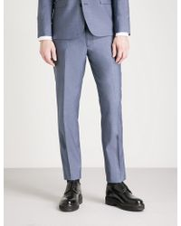 The Kooples - Tapered Wool And Mohair-blend Trousers - Lyst
