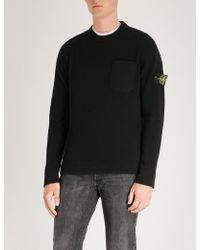 Stone Island - Logo Patch-embroidered Wool Jumper - Lyst