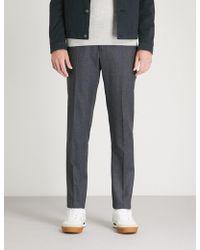 Slowear - Slim-fit Wool Flannel Trousers - Lyst