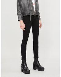 RE/DONE - Raw-hem High-rise Skinny Jeans - Lyst