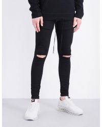 HERA - Spray-on Ripped Knee Slim-fit Skinny Jeans - Lyst