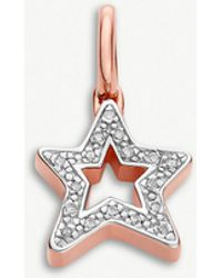 Monica Vinader - Alphabet Star 18ct Rose-gold Vermeil And Pavé Diamonds Pendant - Lyst