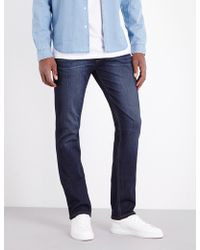 PAIGE - Federal Slim-fit Tapered Jeans - Lyst