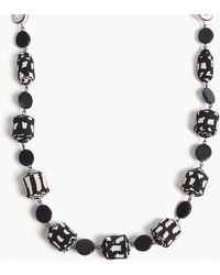 Max Mara - Resin And Fabric Link Necklace - Lyst