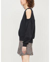 5cm - Cutout Shoulder Cotton-jersey Sweatshirt - Lyst
