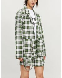 The Ragged Priest - Duke Checked Cotton Jacket - Lyst