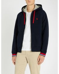 Polo Ralph Lauren - Contrast-trim Sherpa-lined Cotton Hoody - Lyst