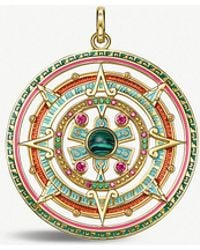 Thomas Sabo - 18ct Gold-plated Sterling Silver And Enamel Amulet Pendant - Lyst