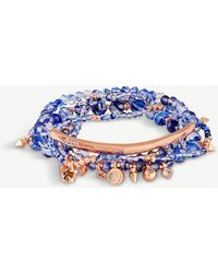 Kendra Scott - Supak 14ct Rose Gold-plated And Beaded Bracelet Set - Lyst