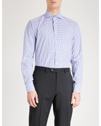 Eton of Sweden - Checked Slim-fit Cotton Shirt - Lyst