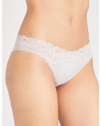 Passionata - Brooklyn Tulle And Floral-lace Tanga Briefs - Lyst