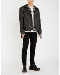 DEADWOOD - Reno Fringed Leather Jacket - Lyst