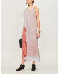 Chalayan - Layered Silk-crepe Midi Dress - Lyst