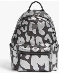 MCM - Stark Backpack In Leopard Print - Lyst