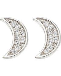 Astley Clarke - Mini Moon Stud Earrings - Lyst