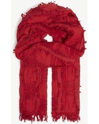 Y's Yohji Yamamoto - Cotton And Wool-blend Scarf - Lyst