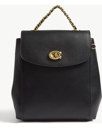 COACH - Parker Leather Backpack - Lyst