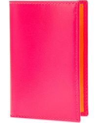 Comme des Garçons - Super Flourescent Leather Card Holder - Lyst