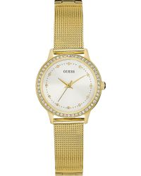 Guess - W0647l7 Chelsea Gold-plated Stainless Steel Watch - Lyst
