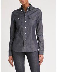 Givenchy - Logo-print Denim Shirt - Lyst