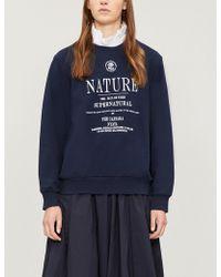 Izzue - 'nature' Embroidered Cotton-jersey Sweatshirt - Lyst