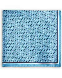 BOSS - Micro-pattern Silk Pocket Square - Lyst